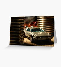 Hot Wheels DeLorean Greeting Card