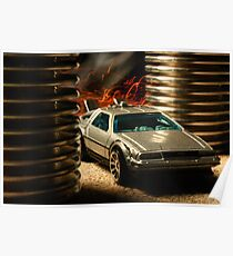 Hot Wheels DeLorean Poster