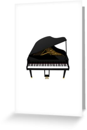 Grand Piano: Black Finish by bradyarnold