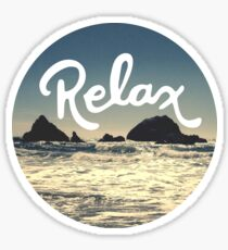 Relax Hipster Beach Typography Tumblr Boho Photo Sticker