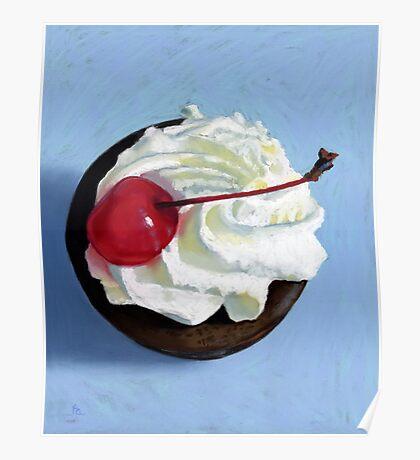 chocolate tart painting Poster