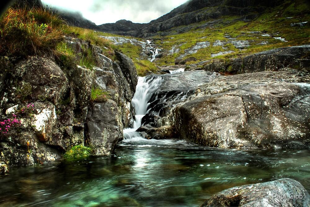 Glen Brittle waterfall by Paul  Gibb