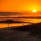 South Beach Sunset (RVR) by Raymond Warren
