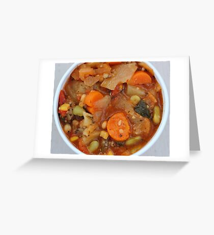 Winter's Soup Greeting Card