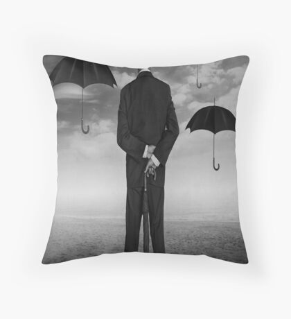 Magritte Style Throw Pillow