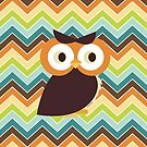 Owl {chevron} iPad Case by sweettoothliz