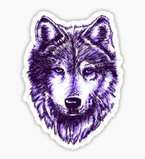 Timber Wolf-Purple Sticker