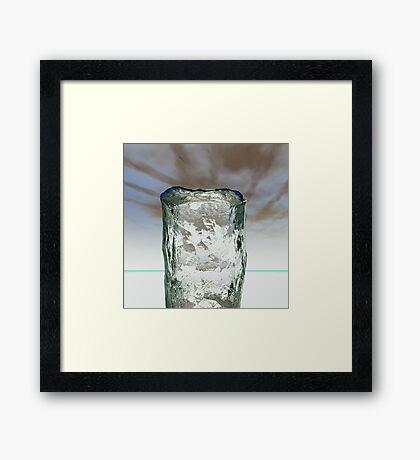 Column of Ice Framed Print