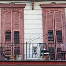Pink Shuttered Windows on Frenchman Street by Mikell Herrick