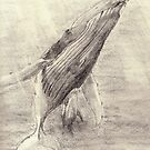 Whale sketch iphone case by gogston