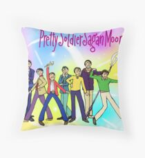 Pretty Soldier Sagan Moon Throw Pillow
