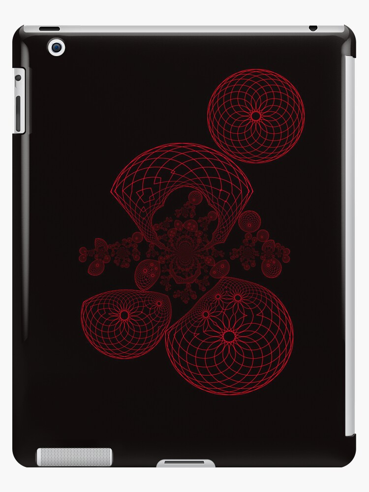 Abstract Red Spirograph Design by TonyaSanders