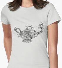 Magic Lantern Mandala Womens Fitted T-Shirt