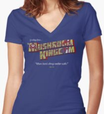 Plumbers vacation spot Women's Fitted V-Neck T-Shirt