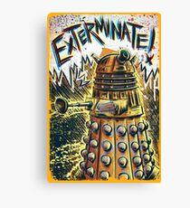 Dalek Dr Who art the Doctor Who BBC davros tardis the doctor david tennant exterminate matt smith british gridlock stolen earth sci fi christmas joe badon Canvas Print