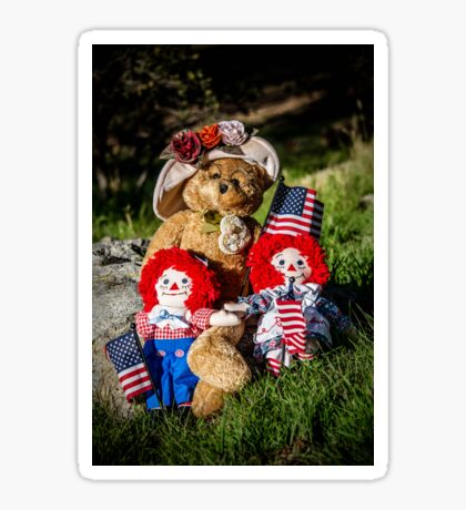 Bear Stories: Have a Beary Happy 4th of July Sticker
