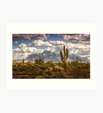 Chasing Clouds Two  Art Print