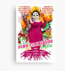 John Waters Pink Flamingos Divine Cult Movie  Canvas Print
