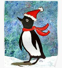 Holiday Penguin Poster