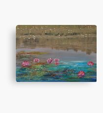 surreal waterlillies Canvas Print