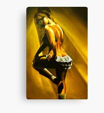 Chantilly - Steampunk Burlesque Painting Canvas Print