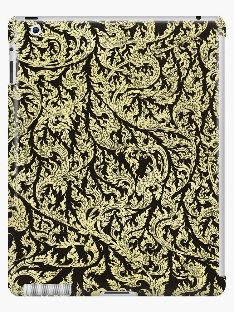 golden dragon pattern by naphotos