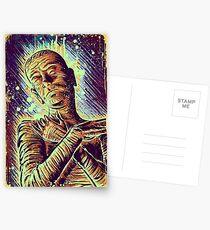 The Mummy Art joe badon universal monster monsters bandages horror classic movie film Boris Karloff Halloween Egyptian prince Imhotep Postcards