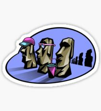 Cool Moais Sticker