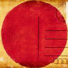 japan flag postcard by naphotos