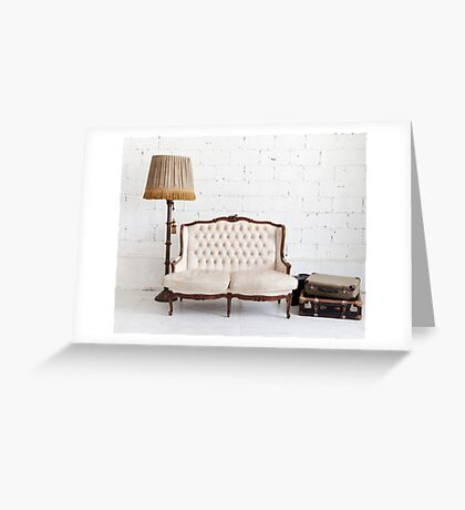retro sofa Greeting Card