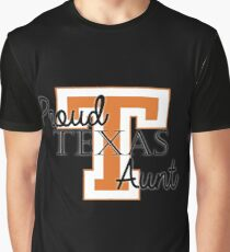 Proud Texas Aunt 2 for Dark Backgrounds Graphic T-Shirt