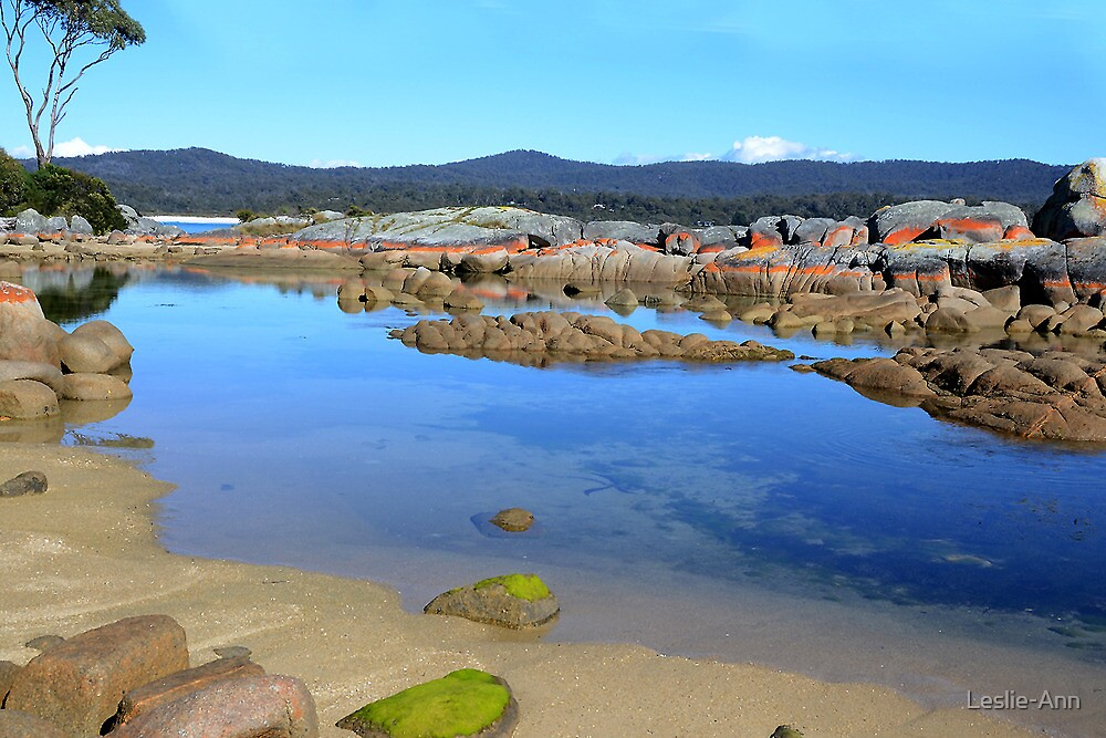 Binalong Bay - Bay of Fires Conservation Area  by Leslie-Ann