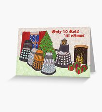 Dalek Christmas special Greeting Card