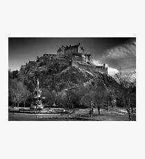 Edinburgh Castle Mono Photographic Print