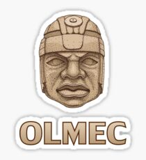 Olmec Head Sticker