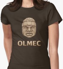 Olmec Head Women's Fitted T-Shirt