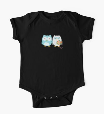 Owls Wedding Bride and Groom Kids Clothes
