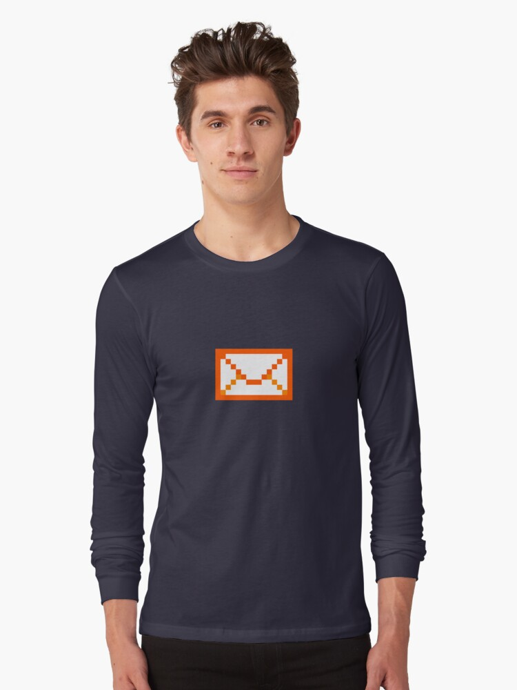 Orangered mail Long Sleeve T-Shirt Front