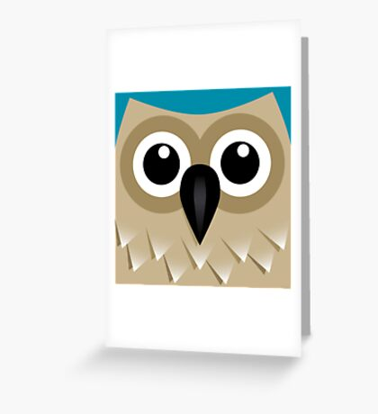 Wise Old Owl - T Shirt Greeting Card