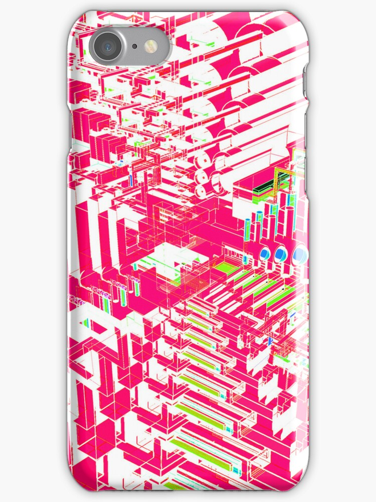 Pink Abstract 3D Construct by bradyarnold