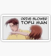 Drive Slower Tofu Man (color) Sticker