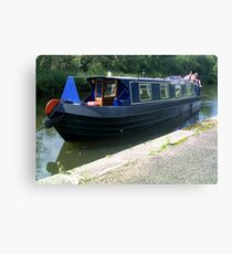 A narrowboat in August Canvas Print