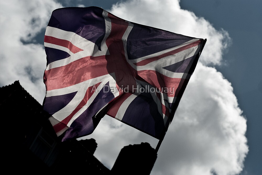 English Flag - London by Aaron Holloway