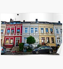 German Row Houses in Bremen Poster