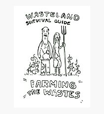 Wasteland Survival Guide - Farming Cover - Fallout 4 Photographic Print