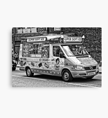 Ice Cream Truck - London Canvas Print