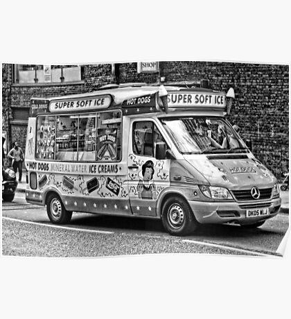 Ice Cream Truck - London Poster