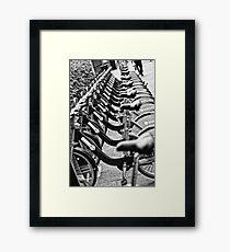 London Bicycles Framed Print