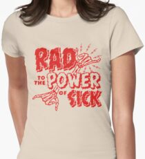 Rad to the Power of Sick- red Womens Fitted T-Shirt