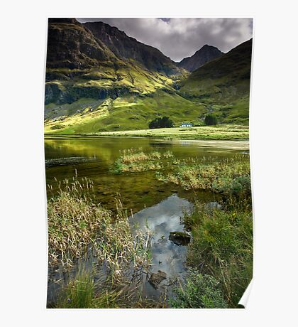 Light & Shadow in the Valley of Glencoe Poster